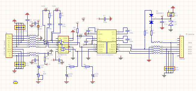 Rs 422 To Rs232 Schematic - Trusted Wiring Diagram •